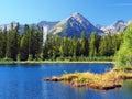 Nové Štrbské Pleso a vrchol Solisko vo Vysokých Tatrách