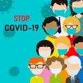 Novel coronavirus 2019-nCoV, people in medical face mask.