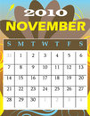 November 2010 Royalty Free Stock Images