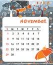 November Stock Photography