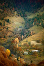 November on carpathian golden hillsides in Stock Photography