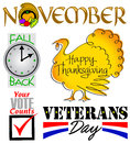 November Events Clip Art Set/eps
