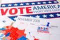 November 2020 presidential election text on calendar concept. Royalty Free Stock Photo