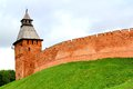 Novgorod kremlin russia the spasskaya tower of in veliky Royalty Free Stock Photos