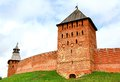 Novgorod kremlin russia towers of in veliky Stock Photography