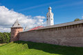 Novgorod Kremlin, Russia. Was founded in 1044 Stock Photos