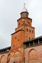 Novgorod kremlin tower of in veliky russia Royalty Free Stock Image