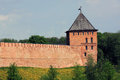 Novgorod kremlin zlatoustovskaya tower rectangular blank tower of the Stock Photography