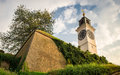 Novi Sad - Old clock tower Royalty Free Stock Photo