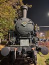 Novi Sad Serbia old steam engine close up Royalty Free Stock Photo