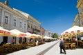 Novi Sad touristic street Royalty Free Stock Photo