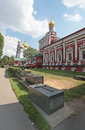 Novodevichiy convent moscow cathedral of the assumption in in russia unesco site Royalty Free Stock Images
