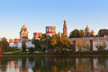 Novodevichiy convent in moscow russia architecture background Royalty Free Stock Images