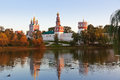 Novodevichiy convent in moscow russia architecture background Royalty Free Stock Photo