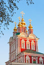Novodevichiy convent in moscow russia architecture background Stock Photos