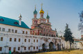 In novodevichiy monastery historic building moscow Royalty Free Stock Photography