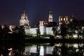Novodevichy Convent at dark night Royalty Free Stock Photo