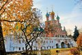 Novodevichy convent in Moscow in autumn Royalty Free Stock Photo