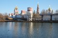 Novodevichy convent in moscow the image of Stock Image