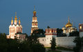 Novodevichy Convent (at night), Moscow, Russia Royalty Free Stock Photo