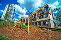 Novopecherskaya school july kiev ukraine opening of new shool with super modern building exteriors and interiors one of most Stock Image