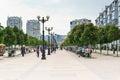NOVOROSSIYSK, RUSSIA - MAY 08.2016: Chestnut Avenue on the Boulevard Chernyakhovsky, the city of Novorossiysk