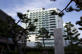 Novotel busan south korea is a fine hotel on a beach in Stock Photo