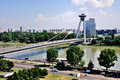 Novy Most Bridge, Bratislava Royalty Free Stock Photography