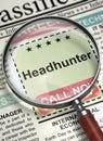 Now Hiring Headhunter. 3D. Royalty Free Stock Photo