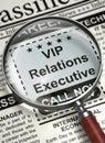 Now Hiring VIP Relations Executive. 3D.