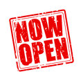 Now open red stamp text Royalty Free Stock Photo
