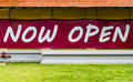 Now open sign Royalty Free Stock Photo