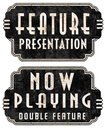 Now Playing Feature Presentation Movie Marquee Signs