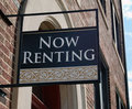 Now Renting sign Stock Photos