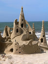 Now THAT'S a sandcastle! Royalty Free Stock Photo