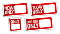 Only now stickers with place for price. Royalty Free Stock Photo