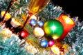 Nowego Roku decoration- piłki, świecidełko, candels. Zdjęcia Stock