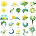Nowożytnej natury ustalony symbol Fotografia Stock