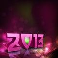 Nowy rok 2013 Szczęśliwych kartka z pozdrowieniami. Zdjęcie Stock