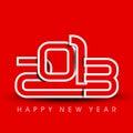 Nowy rok 2013 Szczęśliwych kartka z pozdrowieniami. Fotografia Stock