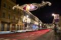 Nowy Swiat street in Warsaw Royalty Free Stock Photo