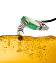 Nozzle and Gasoline Royalty Free Stock Photo