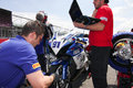 Ns suriano corse suzuki gsx r in supersport championship wss team with Stock Images