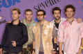 Nsync pop group at the teen choice awards at the universal amphitheatre hollywood they won the awards for choice single and choice Royalty Free Stock Photos