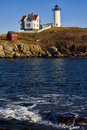 Nubble Lighthouse Stock Images