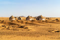 Nubian village in Sudan Royalty Free Stock Photo