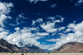 Nubra valley in himalayas ladakh india sky above Stock Photo