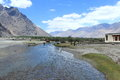 Nubra vally landscape view valley in ladakh india Stock Photo