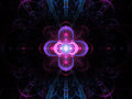 Nuclear cold fusion abstract fractal background Royalty Free Stock Photo