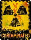 Nuclear contamination radiation o warning vector illustration Stock Photos